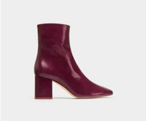 zara sale red shoes