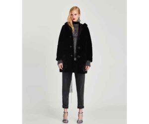 zara sale black coat