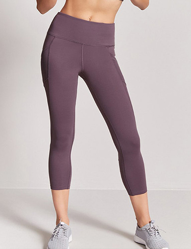 Forever 21 Active Mesh-Panel Capri Leggings