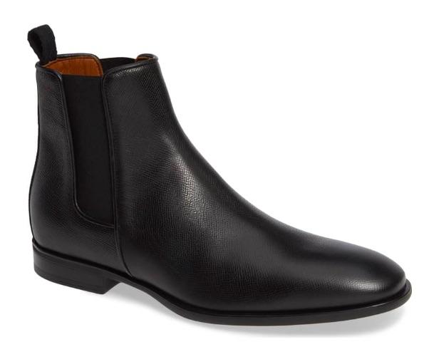aquatalia black chelsea rain boots