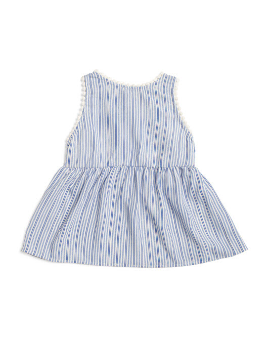 big girls stripe sleeveless top