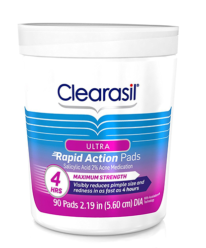 Clearasil Ultra Rapid Action Facial Cleansing Pads