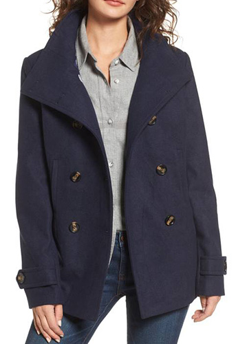 Nordstrom Double Breasted Peacoat