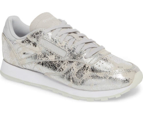 reebok classic sneaker silver metallic