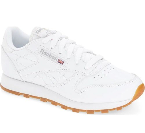 reebok classic sneakers white upper gum sole