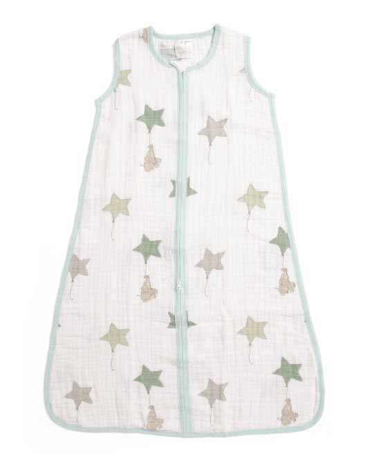up up and away muslin sleeping bag