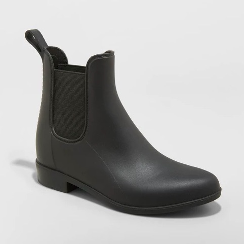 target a new day black chelsea rain boots