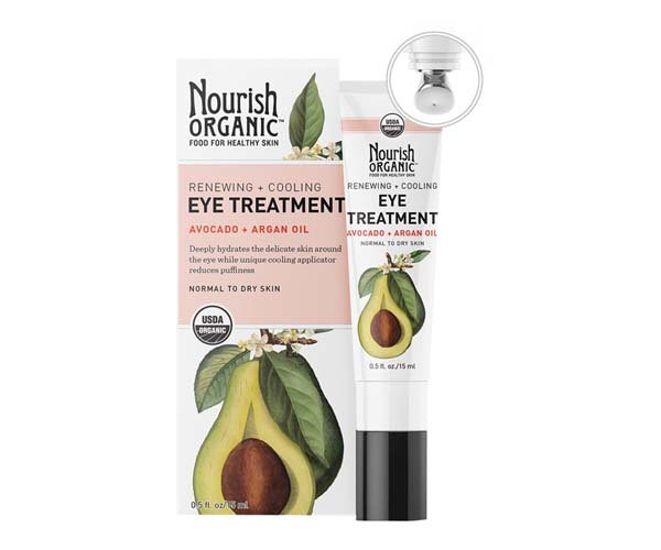 nourish organic renewing avocado and argan eye cream