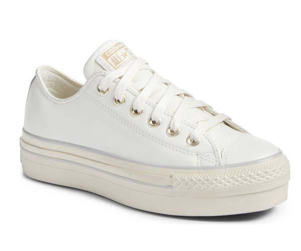 converse white platform shoes