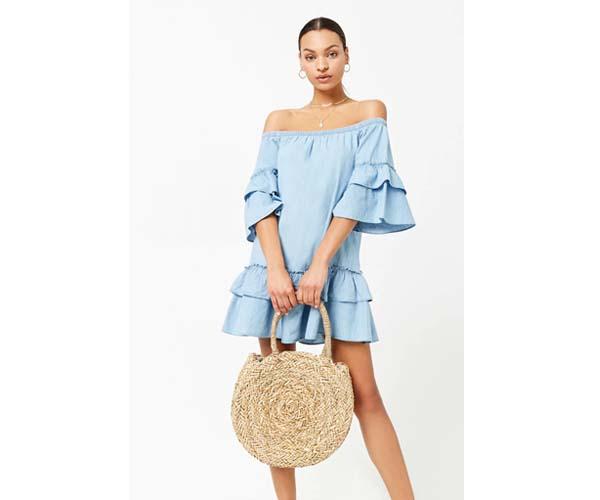 forever 21 chambray spring dress