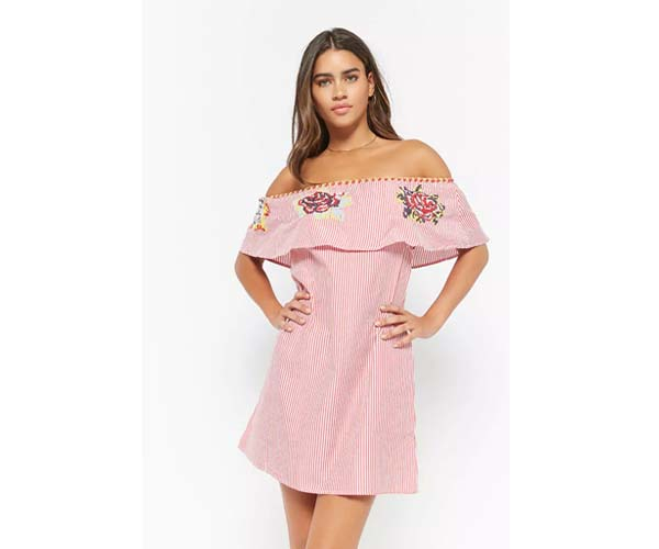 Forever 21 Off The Shoulder Spring Dress