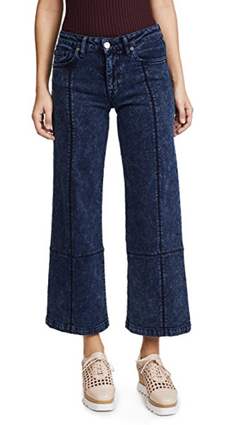 fathers daughter claudia wide crop jeans