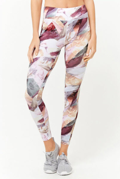 forever 21 active abstract mesh panel leggings