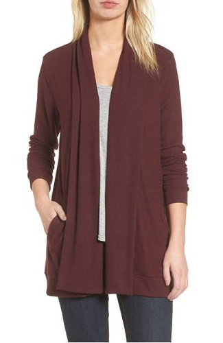 nordstrom fleece cardigan
