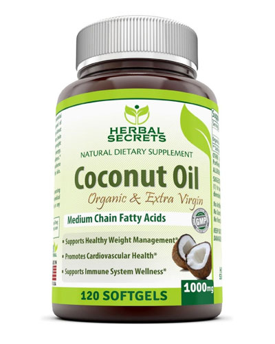 herbal secrets organic coconut oil supplements