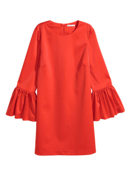 hm flounce sleeved dress