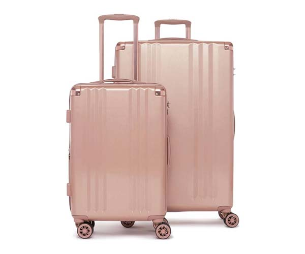 pink matching luggage set