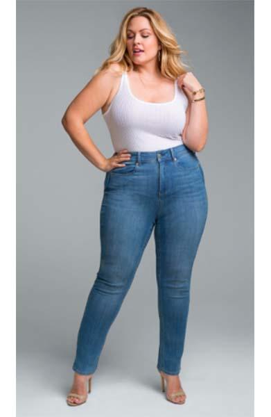 NYDJ ankle slit jeans