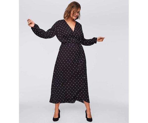 loft plus polka dot dress