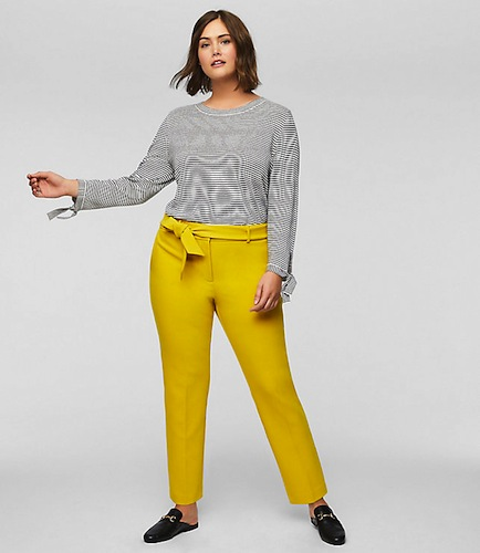 LOFT Plus Slim Tie Waist Pants