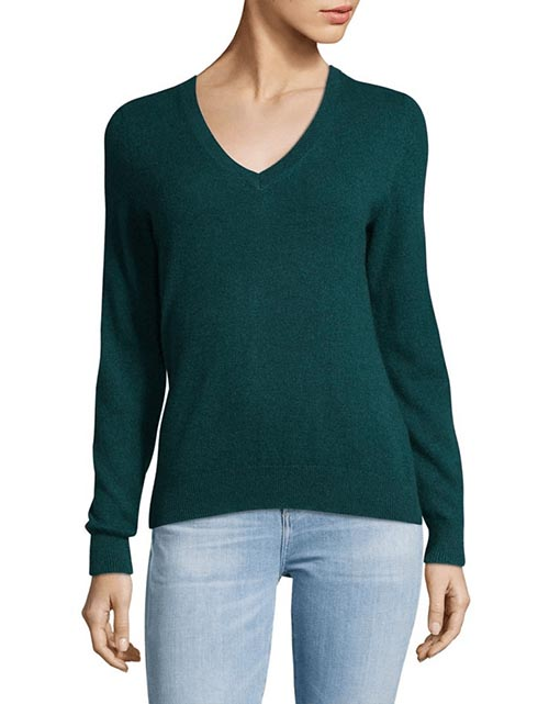 lord and taylor vintage v neck cashmere sweater
