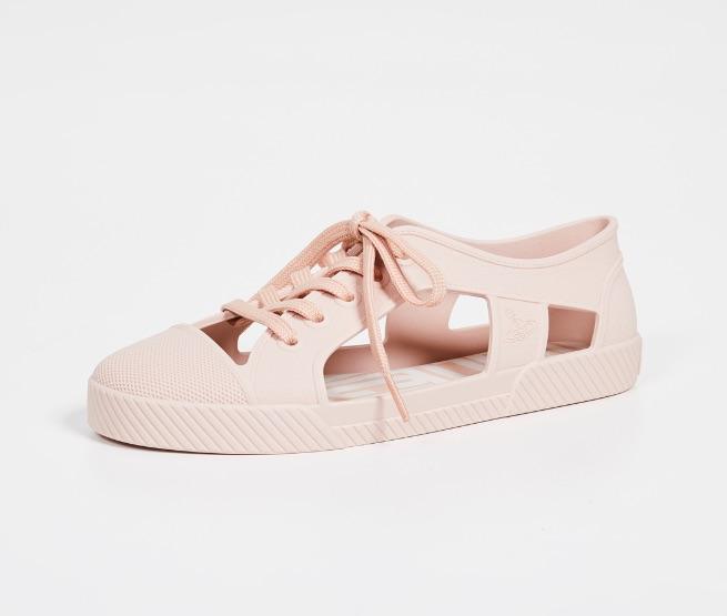 melissa vivienne westwood pink cut out rain shoes