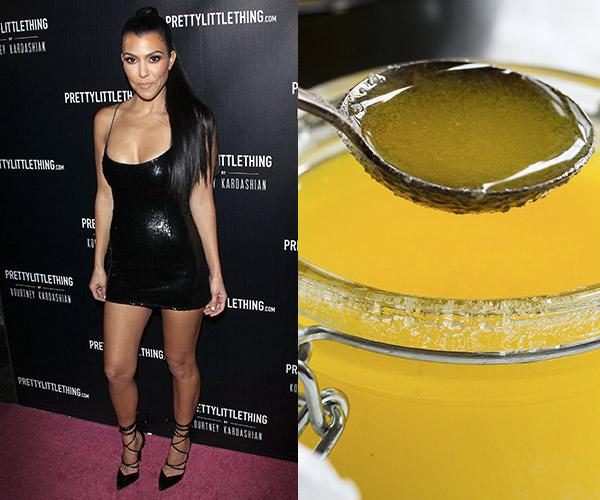 kourtney kardashian with melted ghee