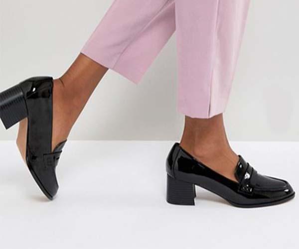 asos loafers work heels