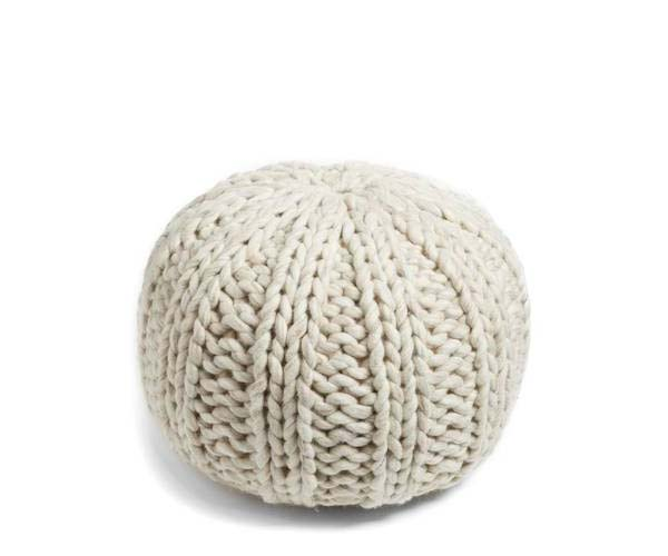 treasure and bond chunky knit pouf
