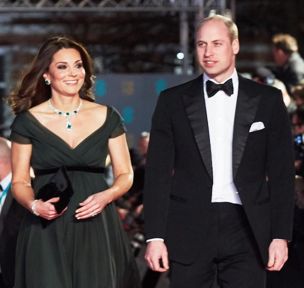 kate middleton prince william baftas 2018
