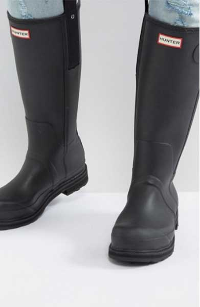 asos hunter rain boots