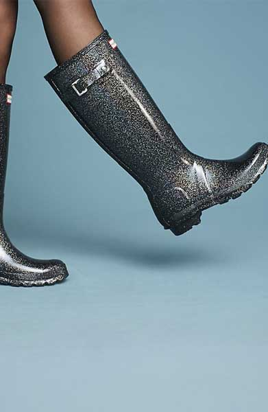 anthropologie hunter rain boots