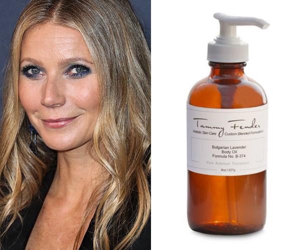 gwyneth paltrow with tammy fender body oil