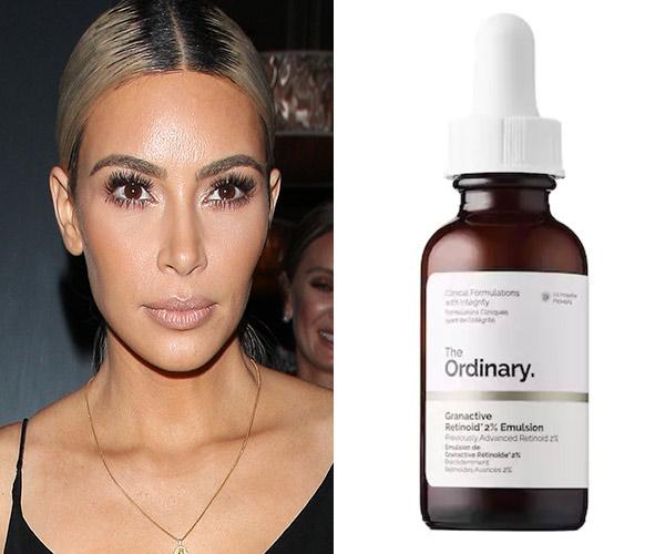 kim kardashian with the ordinary face serum