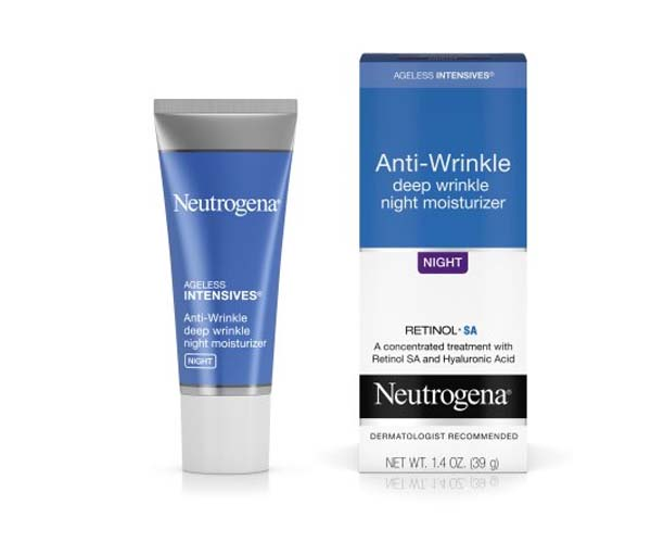neutrogena anti-wrinkle night moisturizer