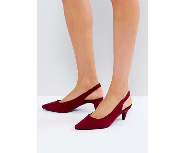 asos maroon slingback shoes