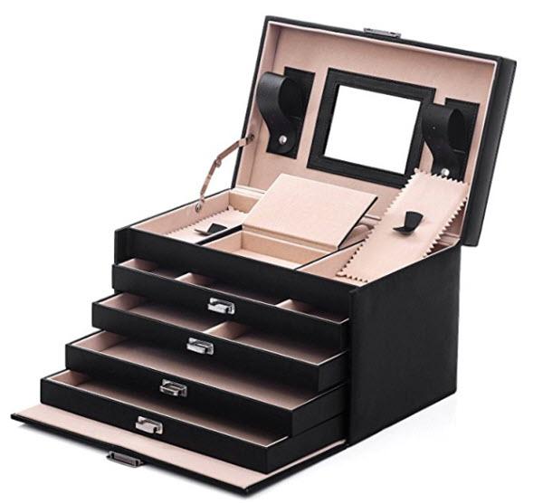 songmics black jewelry box