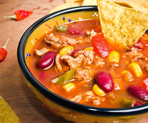 high-protein taco soup