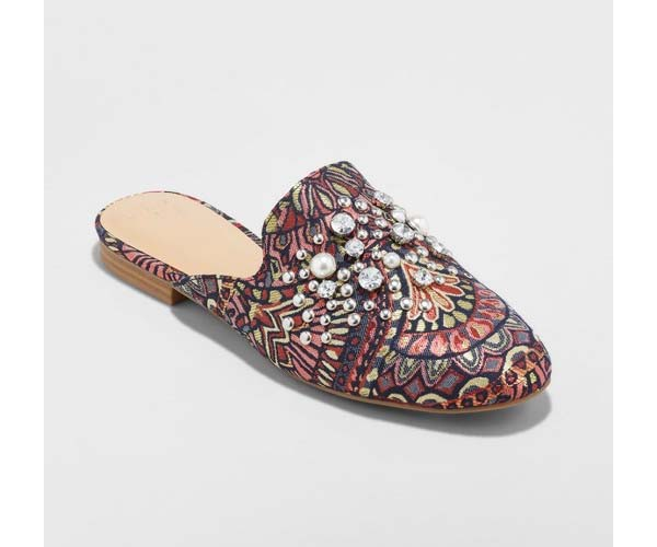 a new day women's armina backless loafer mules