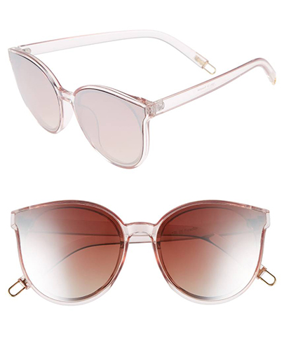 59mm Metal Tip Round Sunglasses