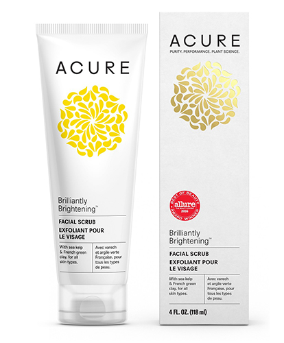 acure rightening facial scrub
