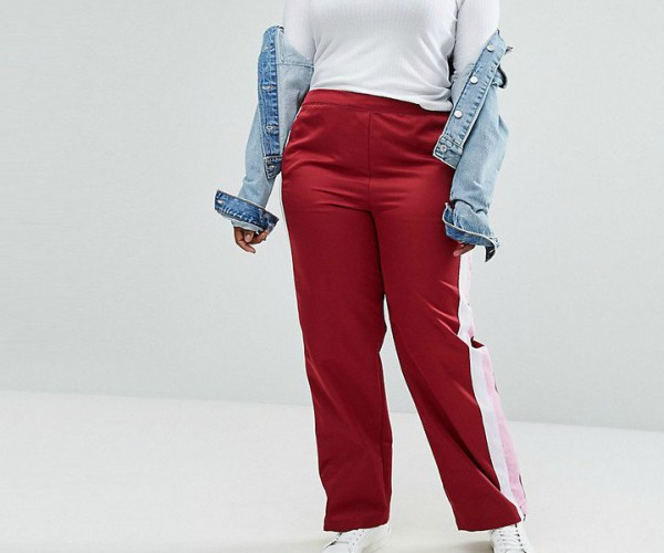 asos plus size track pants