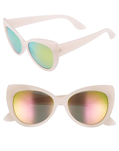 BP 55mm Mirrored Cat Eye Sunglasses