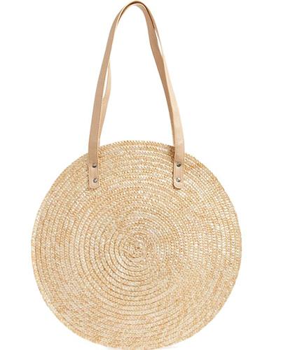 Circle Basket Tote Bag
