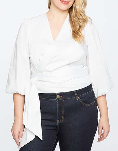 Sleeve Wrap Top
