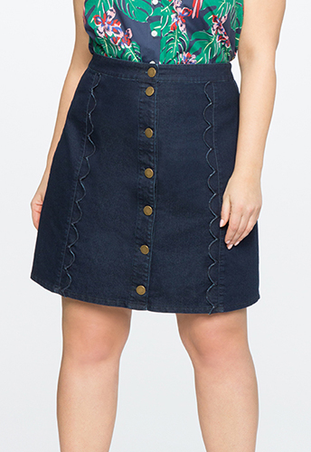 Scallop A-Line Skirt