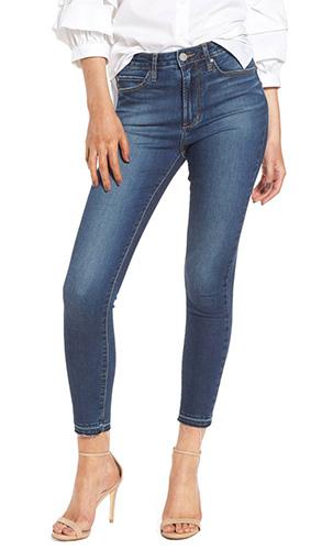 Heather High Waist Crop Skinny Jeans