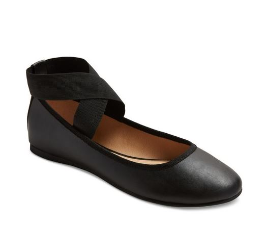 Ballet Flats with Ankle Wrap
