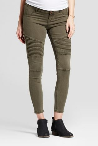 Maternity Inset Panel Utility Jeggings