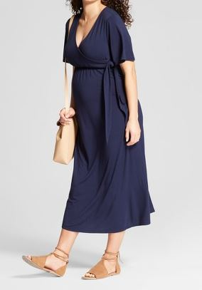 Maternity Knit Wrap Dress